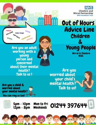 CAMHS Out of Hours advice line launches - Healthwatch Cheshire East